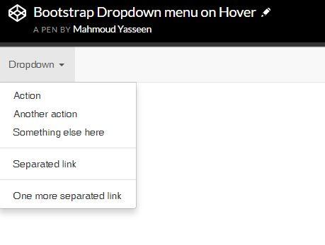 😝 Bootstrap dropdown submenu codepen | Bootstrap Dropdown